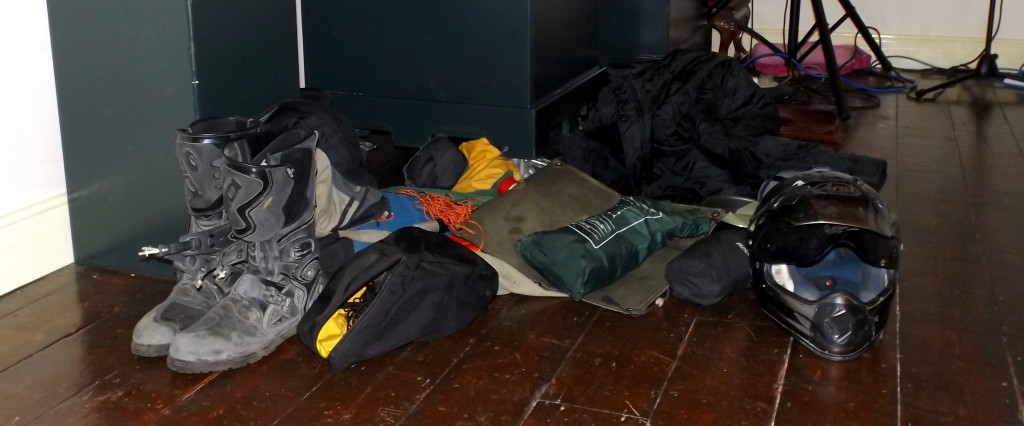 Some of the equipment used on the expedition